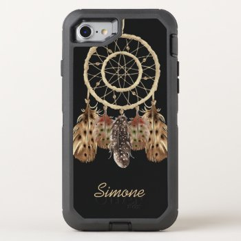 Boho Style Dream Catcher with Monogram OtterBox Defender iPhone 7 Case