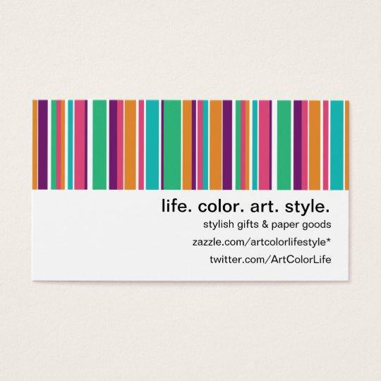 Boho Summer Stripes Business Card