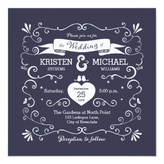 Boho Swirls (Changeable Background Color) Wedding Card