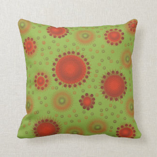Boho Tangerine and Green American MoJo Pillows
