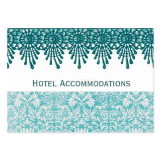 Boho Teal Hotel Accommodation Insert Cards Large Business Cards (Pack Of 100)