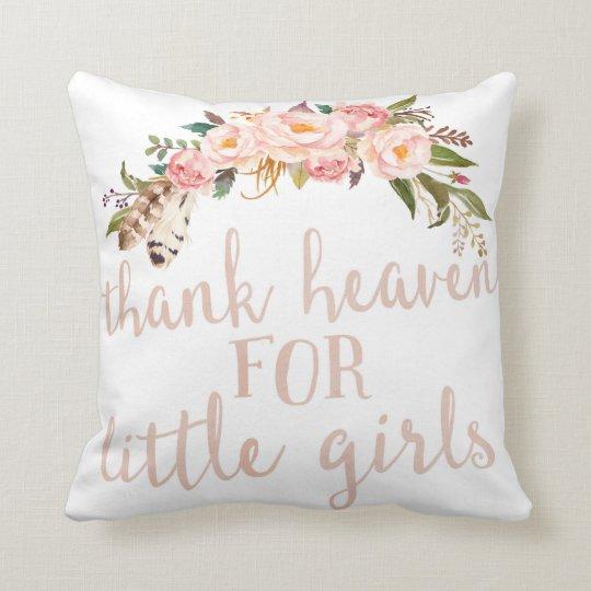 Boho Thank Heaven For Little S Nursery Pillow