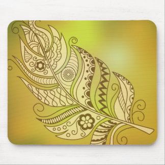 boho to feather mouse pad