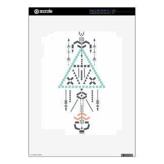 Boho Totem, Ethnic Symbol, Hippie, Aztec, Tribal Decal For The iPad 2