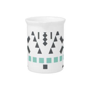 Boho Totem, Ethnic Symbol, Hippie, Aztec, Tribal Pitcher