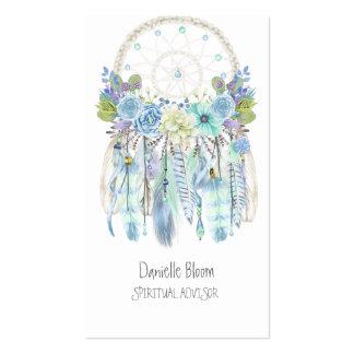 Boho Tribal Dream Catcher Arrows Feathers Flowers Business Card