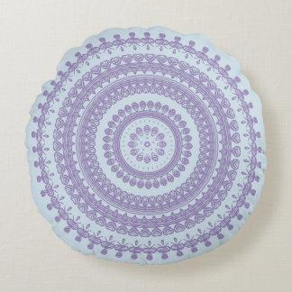Boho Tribal Folk Nature Gypsy Circle Hippy Pixie Round Pillow