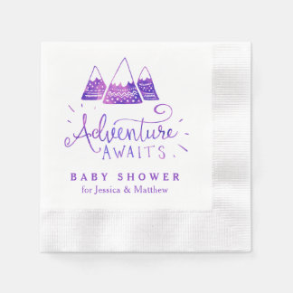 Boho Tribal Girl Adventure Baby Shower Napkins