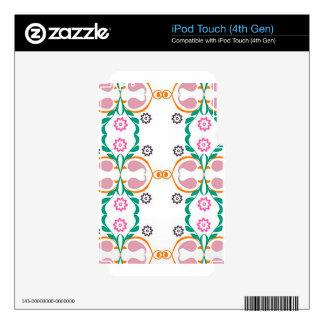 Boho Urban Colorful Pattern Illustration Design iPod Touch 4G Skins
