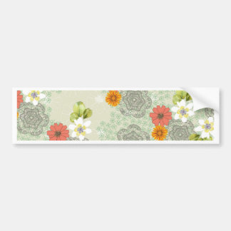 Boho Vintage Flowers Bumper Sticker