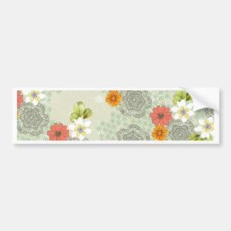 Boho Vintage Flowers Bumper Sticker