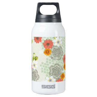 Boho Vintage Flowers Insulated Water Bottle