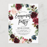"Boho Watercolor Autumn Wreath Engagement Party Invitation Postcard<br><div class=""desc"">Boho Watercolor Autumn Wreath Engagement Party Invitation Postcard 