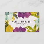 """Boho Watercolor Flowers   Floral Business Card<br><div class=""""desc"""">Elegant business card featuring hand-drawn watercolor flowers. This stylish business card is perfect for any business.</div>"""