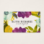 "Boho Watercolor Flowers | Floral Business Card<br><div class=""desc"">Elegant business card featuring hand-drawn watercolor flowers. This stylish business card is perfect for any business.</div>"