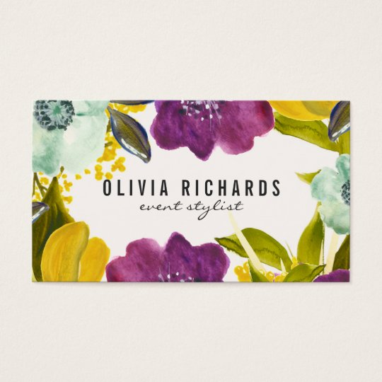 Floral business cards etamemibawa floral business cards wajeb Images