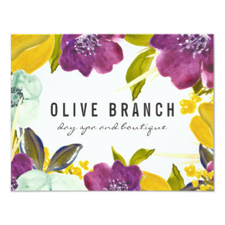 Boho Watercolor Flowers | Floral Gift Certificate Card