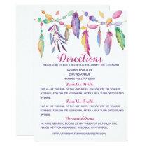 Boho Wedding Details Feathers Purple Indian Invita Invitation