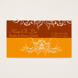 Boho White Indian Lotus Flower Bold Business Card