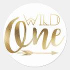 Boho Wild One | First Birthday Party Classic Round Sticker