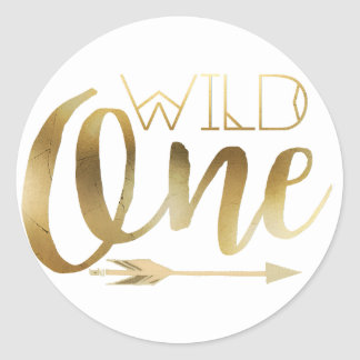 Boho Wild One | First Birthday Party Classic Round Sticker