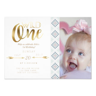 Boho Wild One | First Birthday Party Invite