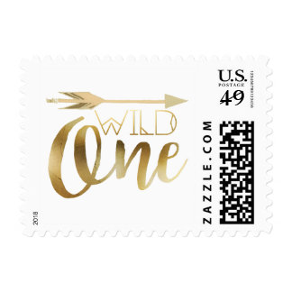 Boho Wild One | First Birthday Party Postage Stamp