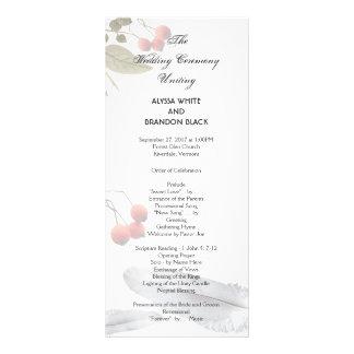 Boho Woodland Tall Wedding Ceremony Program