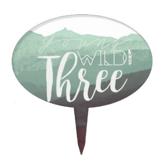 Boho Young Wild & Three | 3rd Birthday Party Cake Topper