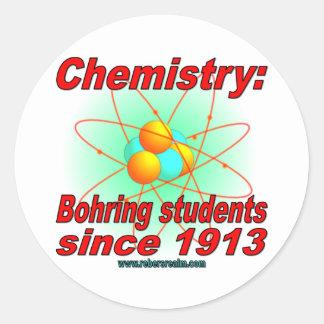 Bohr Atom Classic Round Sticker