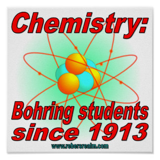 Bohr atom posters