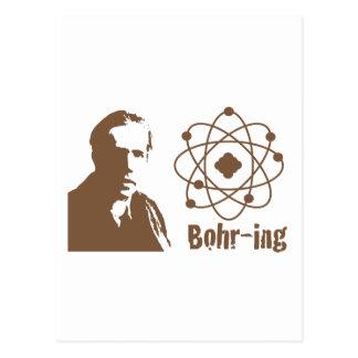 Bohr-ing Postcard