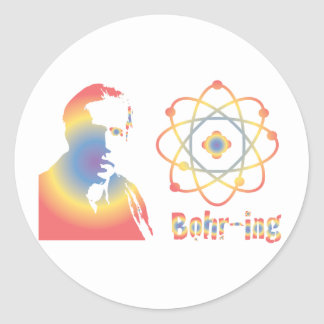 Bohr-ring Classic Round Sticker