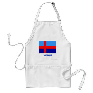 Bohuslän flag with name (unofficial) adult apron