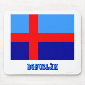 Bohuslän flag with name (unofficial) mouse pad