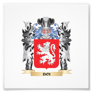 Boi Coat of Arms - Family Crest Photo Print