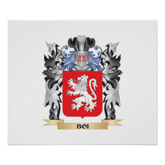 Boi Coat of Arms - Family Crest Poster