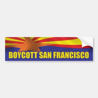 Boicoteo San Francisco - ayuda Arizona Pegatina De Parachoque