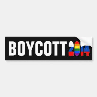 Boicoteo Sochi/Rusia 2014 Pegatina Para Auto