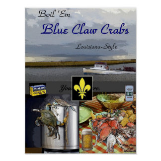 Boil Em Crabs Poster