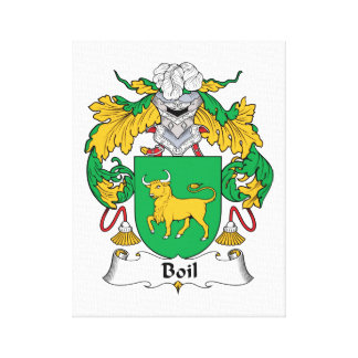 Boil Family Crest Gallery Wrapped Canvas
