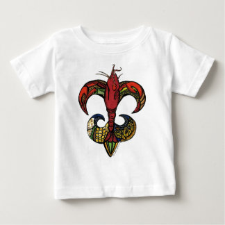 Boil with a Crawfish Fleur de Lis Baby T-Shirt
