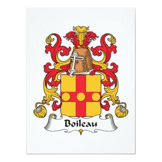 Boileau Family Crest Personalized Invites