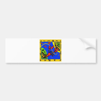 Boiled Crawfish Abstract Bumper Sticker