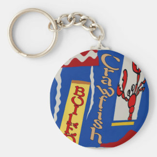 Boiled Crawfish Abstract Design Keychain