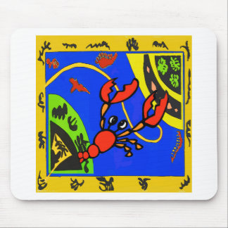 Boiled Crawfish Abstract Mouse Pad