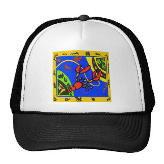 Boiled Crawfish Abstract Trucker Hat