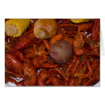 boiled crawfish greeting card