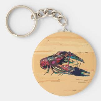 Boiled Crawfish on Wood Keychain
