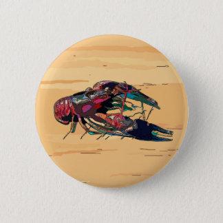 Boiled Crawfish on Wood Pinback Button